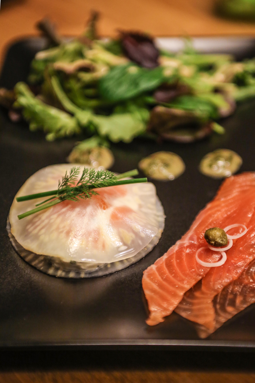Raviole froide au saumon gravlax